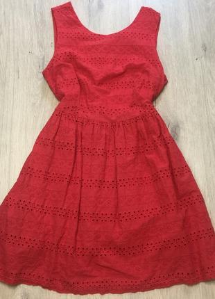 Хлопковое платье батист
