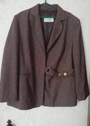 Піджак коричневий меланж