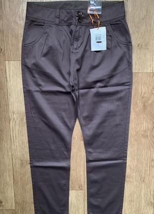 Новые классные лёгкие штаны высокая посадка италия ovs / на широкие бедра