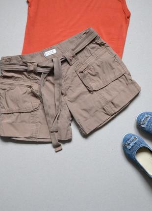 Стильные шорты с отворотами р.s-m  100%хлопок  look