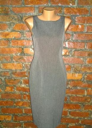 Идеальное летнее офисное по фигуре платье футляр из костюмной ткани wallis3 фото