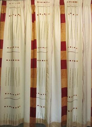 Фабричная портьера штора на подкладке 2,7 х 1,7 м великобритания