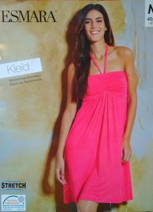 Летнее трикотажное пляжное платье бюстье
