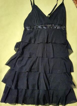 Красивое черное платье плаття