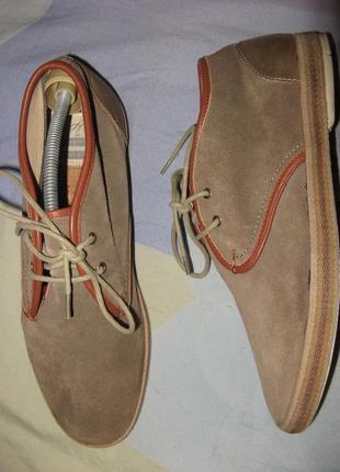 Мокасины туфли hudson замшевые новые