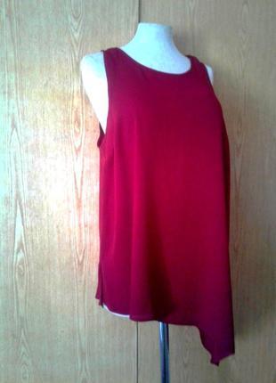 Крепдешиновая блузочка цвета марсала, хl.