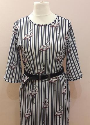 Модное платье в полоску2 фото