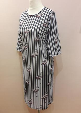 Модное платье в полоску4 фото