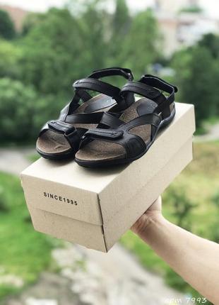 Мужские кожаные сандалии, босоножки stepwey 1072 чер/кор