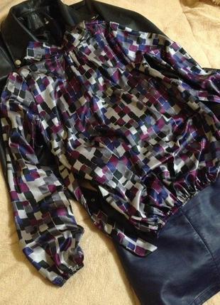 Блузка в геометричний принт