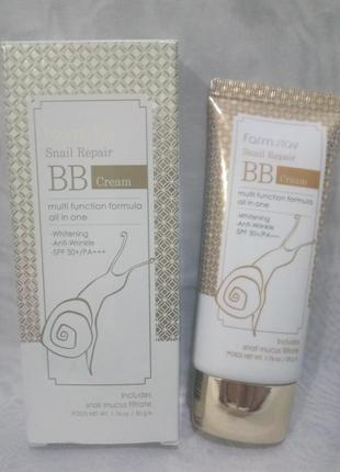 Корейский bb-крем farmstay snail repair bb