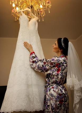 Весільна сукня свадебное платье а силует кружево 2019