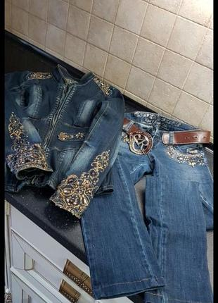 Продам джинсовый костюм