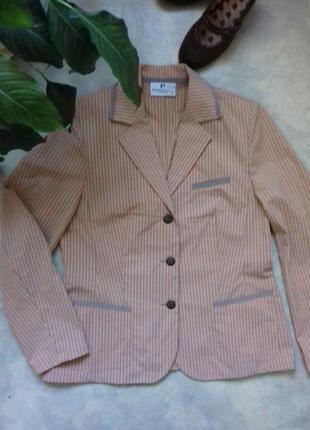 Трендовыый летний жакет пиджак в полоску frank walder (оригинал)