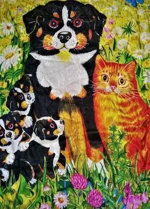 Дизайнерский шелковый платок вeyeler, художник gisela buowberger, швейцария, оригинал