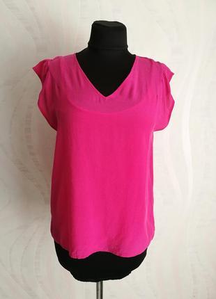 Яркая сочная шелковая блуза