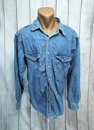 Рубашка джинсовая wrangler, стильная