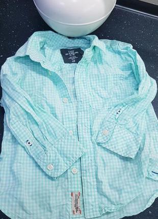Продам легкую рубашку hm на мальчика