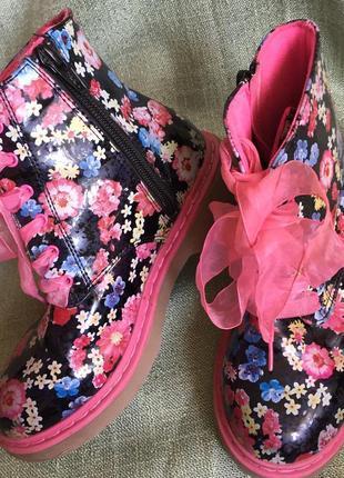Деми ботинки очень красивые  р.13(31)