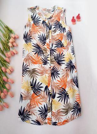 Платье-рубашка на пуговицах без рукавов с карманами от tu размер  4xl (20)