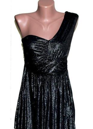 South. блестящее платье на одно плечо-модный тренд в моде. на наш р-р 40.