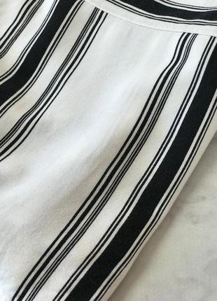 Укороченная блуза в полоску с накладными карманами  bl1922113 h&m3 фото