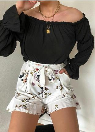 Блуза с открытыми плечами mango
