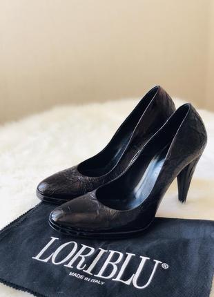 Туфли люкс лаковые туфли на высоком каблуке натуральная кожа loriblu италия