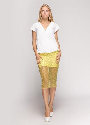 Стильная кружевная юбка от zara