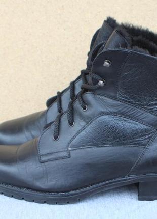 Зимние ботинки sixmix кожа италия 40р