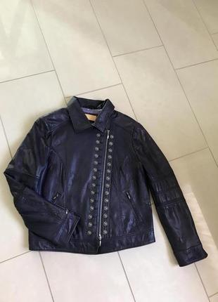 Куртка кожаная стильная модная дорогой бренд biba ( германия), размер 44 или xxl