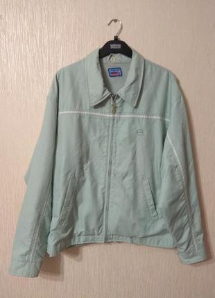 Классная мятная ретро куртка ветровка pepsi размер l-xxl