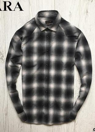 Мужская рубашка zara man - slim fit
