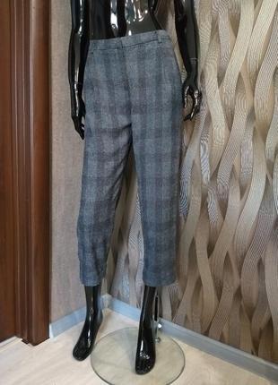 Стильные укороченные брюки открытые косточки topshop uk 10 наш 44 m