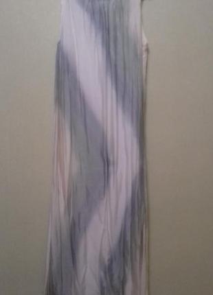 Летнее длинное шелковое платье размер 36 италия