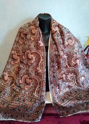 Ручная работа, индийский шелк, большой шарф, 178*53