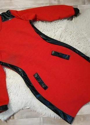 Красное стрейчивое платье .