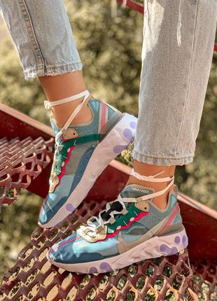 Шикарные женские кроссовки nk react element 87 royal tint 😍 (весна/ лето/ осень)