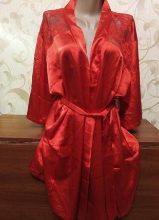 Шикарный игривый красный халатик, пеньюар mala