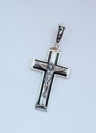 Подвеска крест серебро 925 проба