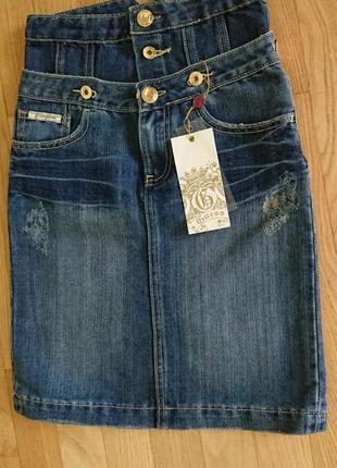 Шикарная джинсовая юбка от guess. новая!