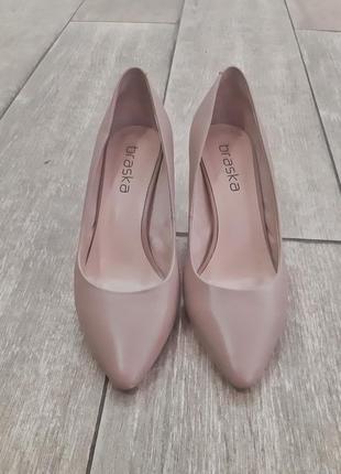Туфли лодочки бежевые braska 37 р