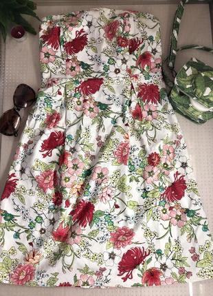Цветочное летнее платье1 фото