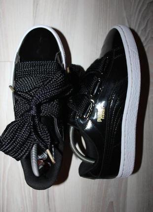 Оригинальные кроссовки puma basket heart patent