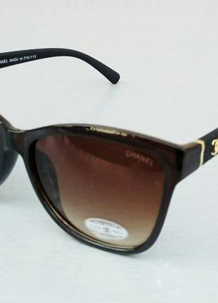 Chanel очки женские солнцезащитные коричневые