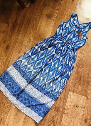 Длинное новое платье primark 9- 10 лет