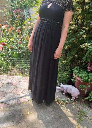 Платье чёрное вечернее 48-50размер