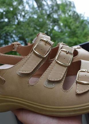 Шлепанцы босоножки сандали туфли летние кожаная стелька memory foam