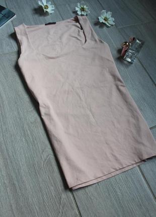 Идеальная розовая базовая/классическая майка/топ/футболка zara4 фото