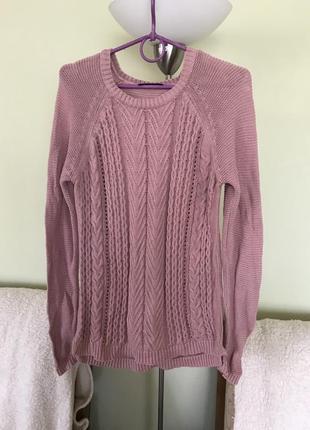 Хлопковый свитерок пудрово- розового цвета